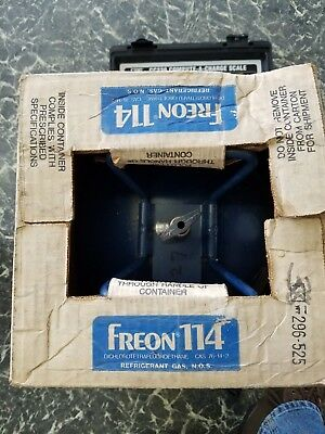 DUPONT R114 114 Refrigerant Freon Full 30 lb pound Tank Jug New in box Sealed