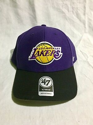 47 BRAND LOS Angeles Lakers Mvp Dp Red Navy White Hat Adult