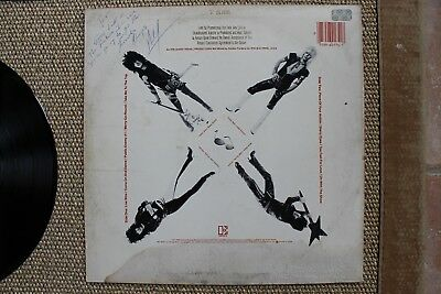 Motley Crue Too Fast For Love Album Signed By Nikki Sixx Promo Neil Lee Mars
