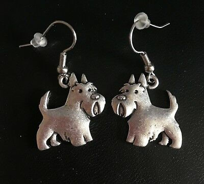 SCOTTIE EARRINGS (Scottish Terrier Scotty) -NEW Without Tags