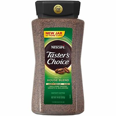 Nescafe Taster's Choice House Blend Decaffeinated Instant Coffee, 14 oz.