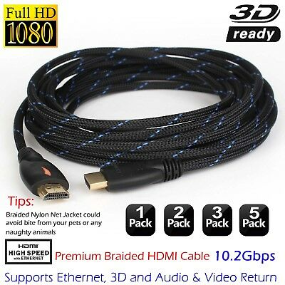 Ultra 3/6/10/15/20/25/30 Ft HDMI Cable 4K For Bluray 3D PS3 PS4 xBox 1080P HDTV