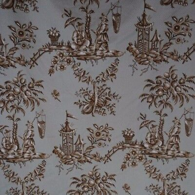Duralee Chinoiserie Toile in Blue and Grey