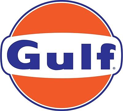 Gulf Oil Gasoline Color Die Cut Vinyl Decal Sticker - You Choose Size