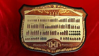 VINTAGE HORNADY BULLET Board Gun Store Display Hunting Collection