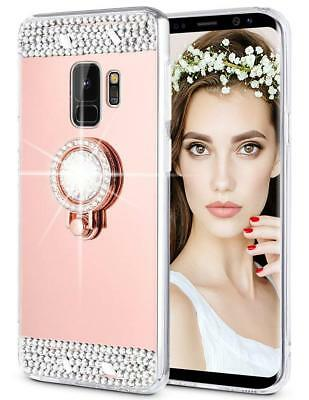 Bling Mirror Makeup Crystal Protective Case Cover for Samsung J3 S9 S8 Plus A8