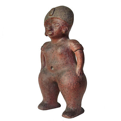 Pre-Columbian Figure Mayan Statue Chinesco Sculpture Large Figurine Aztec Mexico