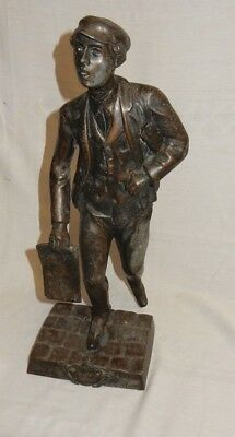 Large French Md De Journaux Bronzed Spelter Figure