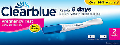 Clearblue Pregnancy Test Fast and Easy to Read Results In 2 Minutes 2 Tests