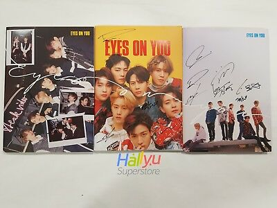 "GOT7  ""Eyes On You"" 8th Mini-  Autographed(Signed) Promo Album (updated 9.09)"
