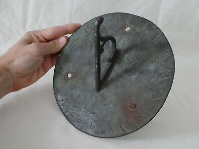 Antique Bronze Sundial Post Tenebras Lux Light After Darkness