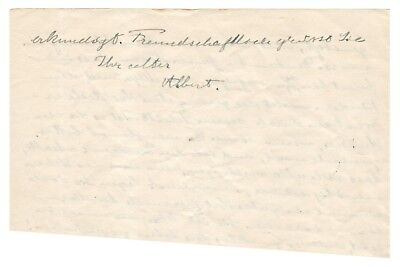 Albert Einstein - Autograph Letter Signed - Takes Care of Wife While w/ Mistress