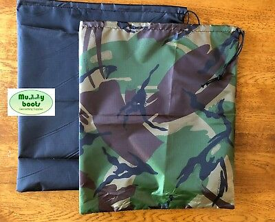 Supersize Geocaching bag. 34cm x 30cm fit 3 Ltr box. camouflage or Black fabric