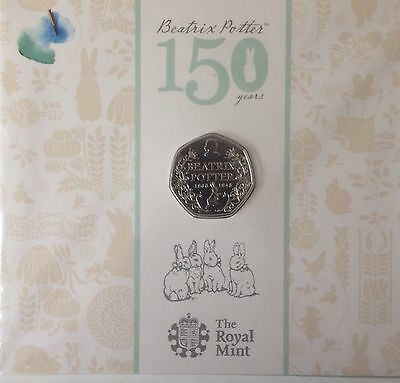 2016 Royal Mint 50p Coin 150th Anniversary Beatrix Potter Uncirculated