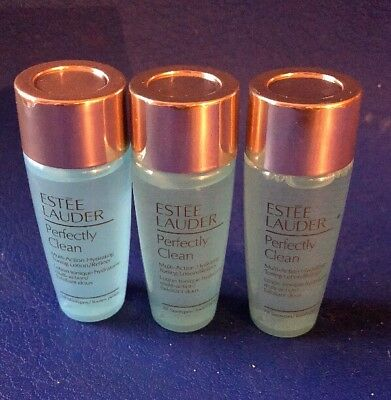 Estee Lauder Perfectly Clean Hydrating Toning Lotion 3 x  30ml Bottles