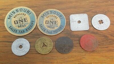 8 State Tax Tokens  L248