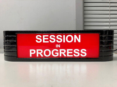 SESSION IN PROGRESS rca Style Broadcast Light Up Flashing CF Studio Sign All New