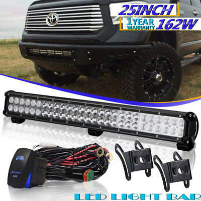 """25"""" 162W Led Light Bar Spot Flood FOR Offroad Truck Ford F-150 Driving Lamp 24"""""""