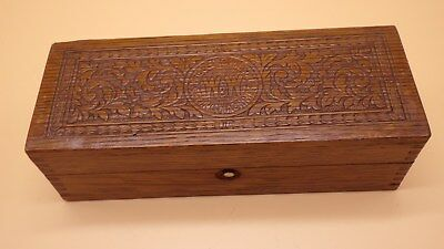 Antique Vintage Old 1800's Sewing Machines Box Wheeler & Wilson Wooden Engraved