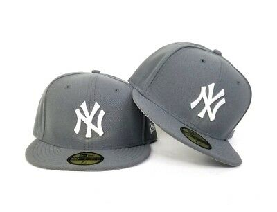 online store af134 24149 New Era MLB Gray New York Yankee 59Fifty Gray Bottom Fitted hat Cap