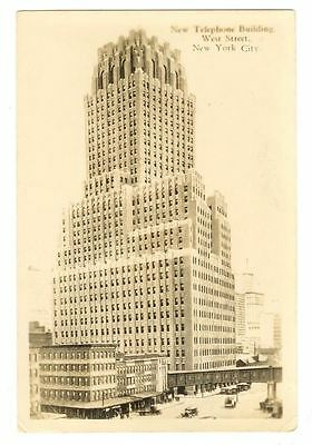 Two 1900s New York City Telephone Building Wall Street Wilkerson RPPC Real Photo