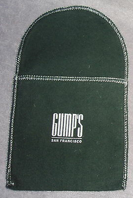 NEW Gump's Green Anti Tarnish Replacment Silver Ornament Jewelry Pouch 4X4 Inch