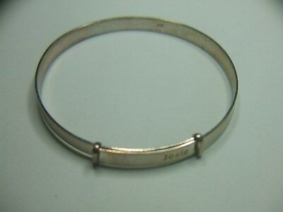 Lovely sterling silver 925 expanding baby/ small childs bangle (Engraved with na