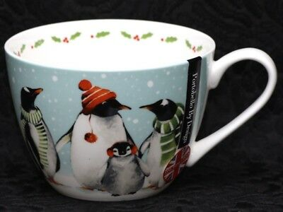 PORTOBELLO By DESIGN LET IT SNOW Bone China Jumbo Cup