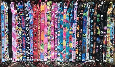 3 Disney Lanyards Pin Trading Vacation Cruise Neck U PICK!! Princess Keychain ID
