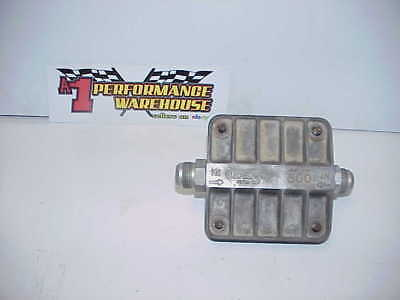 """Oberg Remote 6"""" Tattle Tale Oil Filter with -16 AN Fittings NHRA IHRA IMCA C T2"""