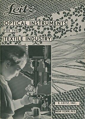 Leitz Optical Instruments for the Textile Industry - thick brochure