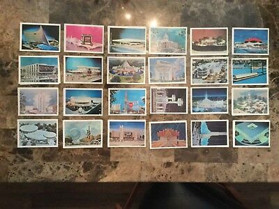 lot of 24 New York World's Fair 1964-1965 trading card size pictures