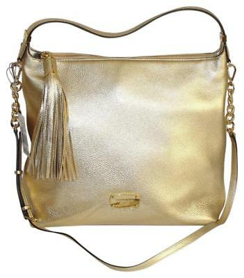3b3d9c4c854f Michael Kors Bedford Large Leather In Pale Gold Hobo / Shoulder Bag NWT