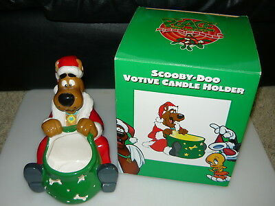 1998 WBSS Scooby Doo Christmas Holiday Ceramic Votive Candle Holder