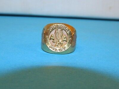 Vintage AMERICAN AIRLINES AA Junior PILOT Ring Aviation Airplane Advertising ~~