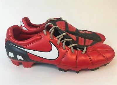 00cf07dd6 Nike Total 90 Strike III FG Firm Ground Red Black VTG 2010 Size 11 A+  Condition