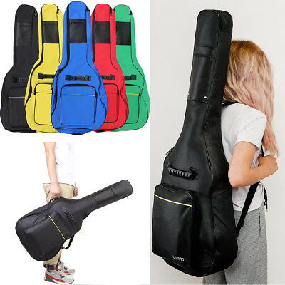 Full Size Padded  Protective Classical Acoustic Guitar Back Bag Carry CaseHolder