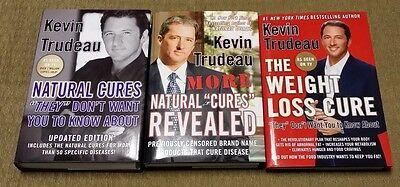 KEVIN TRUDEAU 3 Book Lot NATURAL CURES / MORE Weight Loss Cure HBDJ Mint