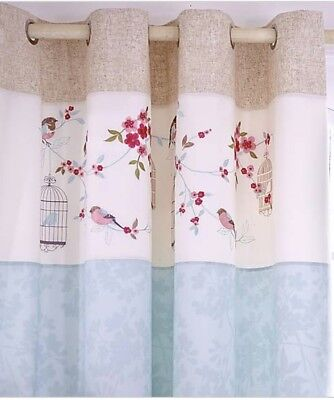 Evelyn Duck Egg Thermal Eyelet Curtains From Dunelm