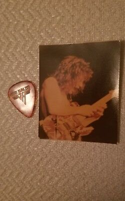 vintage Van halen guitar pic and Photograph MUST SEE