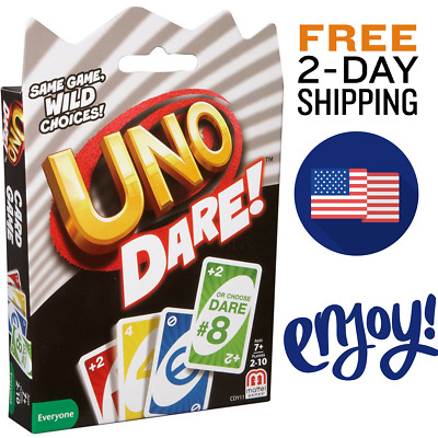 New UNO Dare Card Game Family Board Games Fun Playing Party Friends