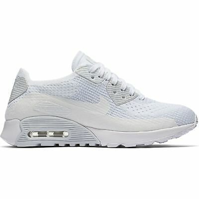 detailed look 7f14b 81664 Neuf pour Femmes Nike Air Max 90 Ultra 2.0 Flyknit Chaussures Blanches  881109