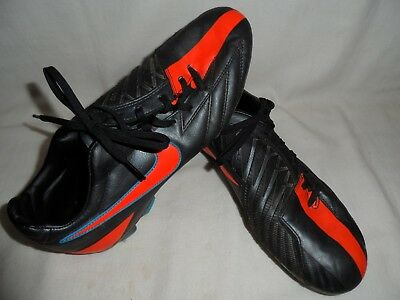 095d4be909d NIKE T90 SHOOT IV FG Soccer Cleats Black Orange Blue Glow 472547-084 Men  Size 8 -  24.99