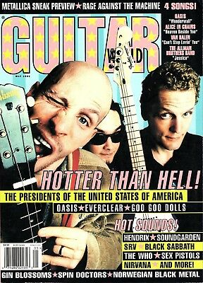 Guitar World Magazine May 1996 - The Presidents of the USA, Goo Goo Dolls, Oasis
