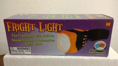 NEW Fright Light Flashlight 8 Built In Sound Effects Interactive Show Halloween