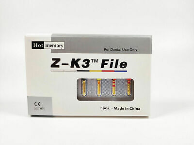 Dental Endodontic Endo NiTi Rotary Files Root Canal Heat Activated Z-K3 5pcs/cad