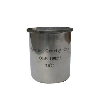 QBB-50ml/100ml Stainless Steel Paint Density Cups Specific Gravity Cups