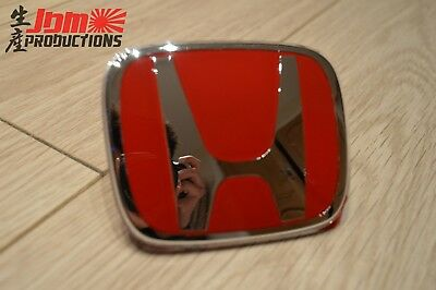 Genuine Honda Civic Type R Fn1 Fn2 Red H Front / Rear Badge - 2007-2011