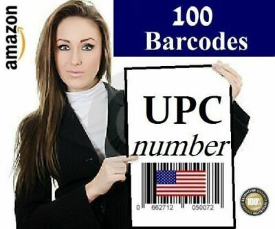 100 UPC EAN Numbers Barcodes GS1-approved international valid codes one  time buy