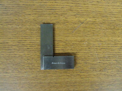 "Brown & Sharpe Machinist Steel Square 2"" Inch"